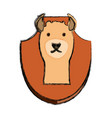 hunting trophy icon vector image