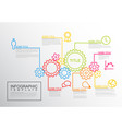 infographic report template gear wheels vector image