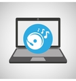 laptop music technology console disk vector image