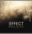 magic light bokeh and fog effect abstract vector image