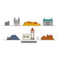 mexico chihuahua flat landmarks vector image