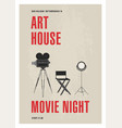 minimalistic poster template for art house movie vector image vector image