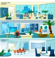 Modern office interiors banners vector image