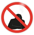 No smoking sign background vector image