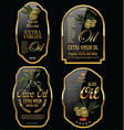 olive oil retro vintage background collection vector image vector image