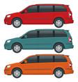 passenger van or minivan car template on vector image vector image