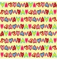 Pattern with cute colorful hearts vector image vector image
