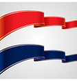 red blue ribbons vector image vector image