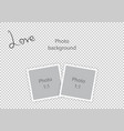 romantic photo frame for lovers vector image vector image