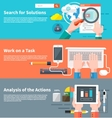 Search for solutions infographic vector image