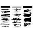 set brush strokes vector image vector image