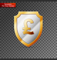 shield with gbf sign on transparent background vector image