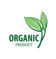 sign organic product on white background vector image