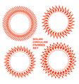 solar circular frames set vector image