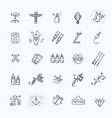 tattoo salon master icon set vector image vector image