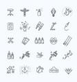 tattoo salon master icon set vector image