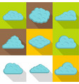 tropical cloud icon set flat style vector image vector image