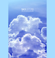vertical background with realistic blue sky vector image