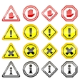 Warning Danger Icons vector image vector image