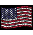 waving united states flag stylization of drop vector image vector image