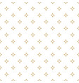 white and gold ornamental seamless pattern vector image