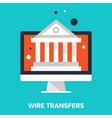 wire transfers vector image vector image