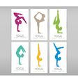 Women doing yoga asanas vector image