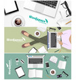 workspace banner for facebook poster design vector image