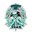 your fear is mine vector image vector image