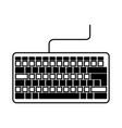black icon keyboard cartoon vector image