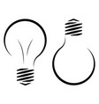contour logo of the incandescent lamp the vector image