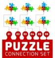 Puzzle connection set vector image
