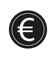 euro sign black icon on vector image