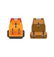 Backpacks isolated school vector image