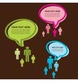 newtork conversation tree group of people vector image
