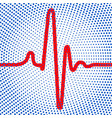 abstract cardiogram icon vector image vector image