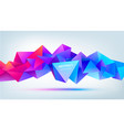 abstract geometric 3d facet shape isolated vector image vector image