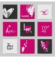 Abstract postcard Valentine templates vector image vector image