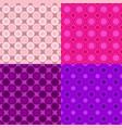abstract repeating pattern set - circle vector image vector image