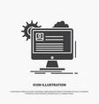 account profile report edit update icon glyph vector image vector image