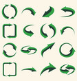 arrows set - ecology icons collection vector image vector image