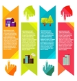 Banners with city City of info graphics vector image