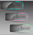 banners with illumination vector image