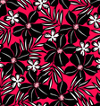 Black tropical flower on red background vector image vector image