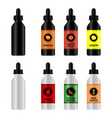 bottle with e-liquid for vape vector image
