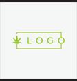 business logo cannabis vector image