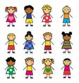 Cartoon children set vector image vector image