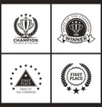 champion prize for epic win promo emblems set vector image vector image