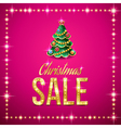 christmas sale pink vector image vector image