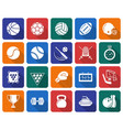 collection of rounded square icons sport vector image